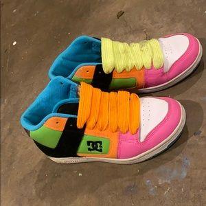 DC tennis shoes.